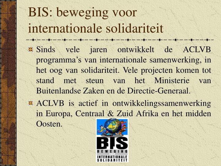 BIS: beweging voor internationale solidariteit