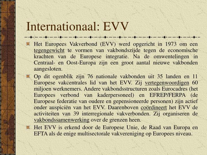 Internationaal: EVV