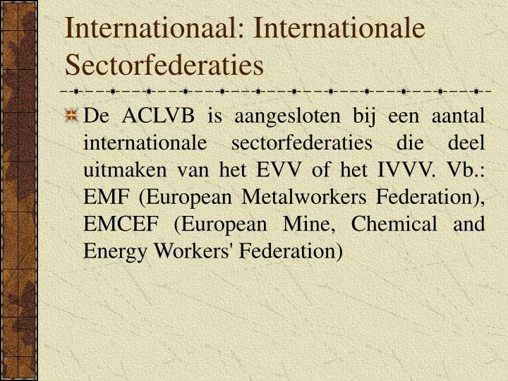 Internationaal: