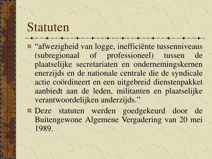 Statuten