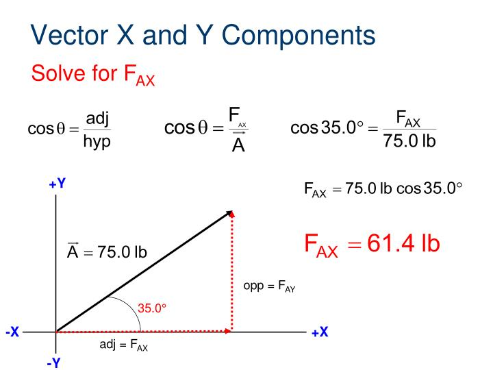 Vector X and Y Components