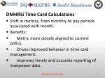 dmhrsi time card calculations