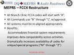 meprs fcc4 restructure