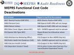 meprs functional cost code deactivations1