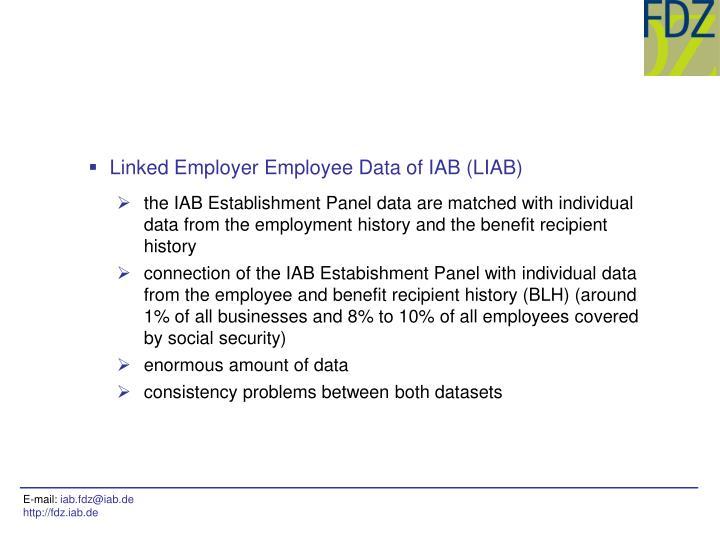 Linked Employer Employee Data of IAB (LIAB)