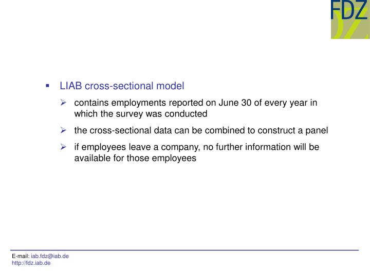 LIAB cross-sectional model