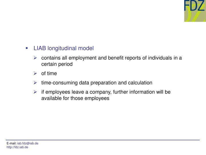 LIAB longitudinal model