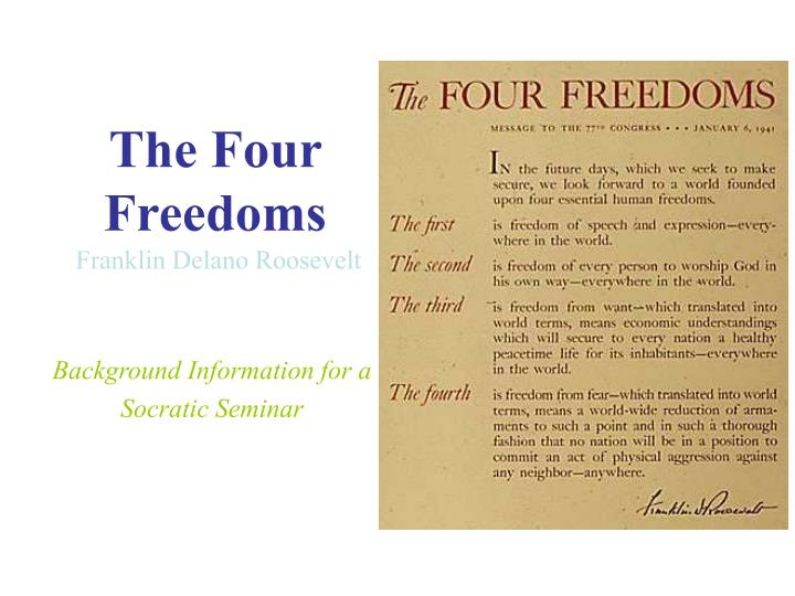the four essential human freedoms