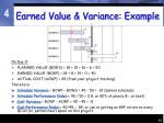 earned value variance example