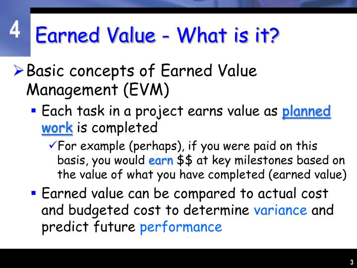 Earned value what is it1