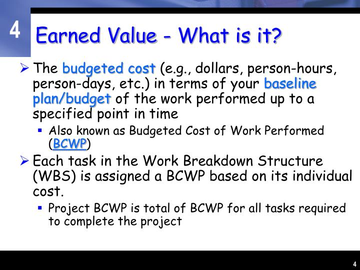 Earned Value - What is it?