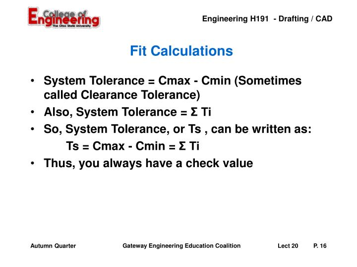 Fit Calculations