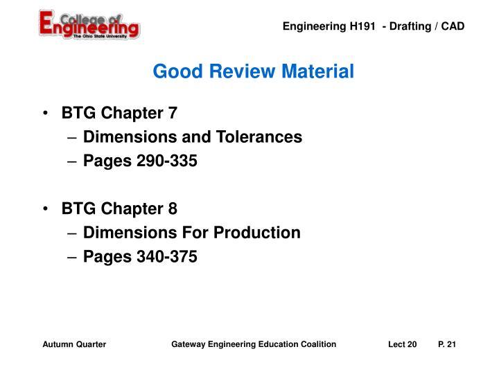 Good Review Material