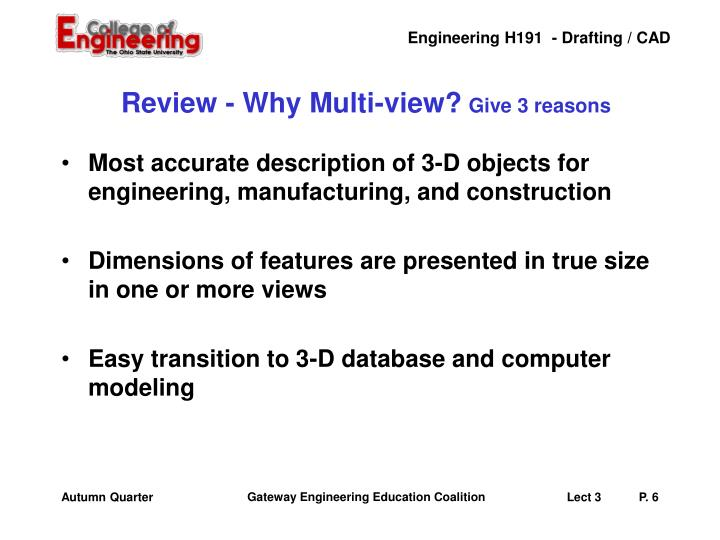 Review - Why Multi-view?