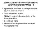 characteristic s of successful innovating companies 1