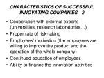 characteristic s of successful innovating companies 2