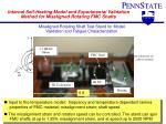 internal self heating model and experimental validation method for misaligned rotating fmc shafts