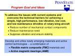 program goal and ideas
