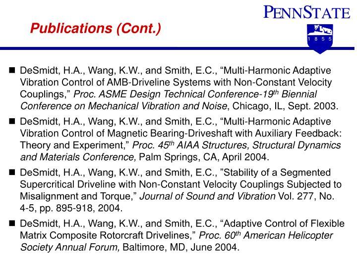 Publications (Cont.)