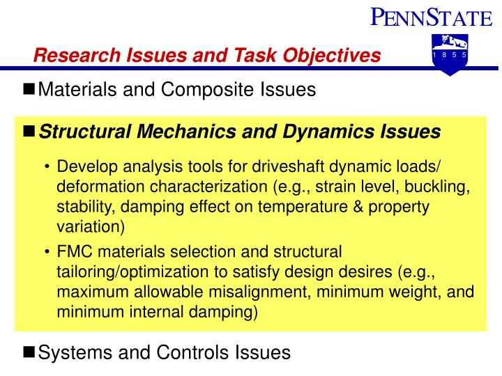 Research Issues and Task Objectives