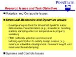 research issues and task objectives2