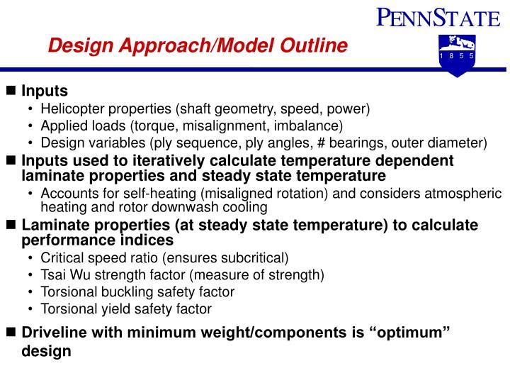 Design Approach/Model Outline