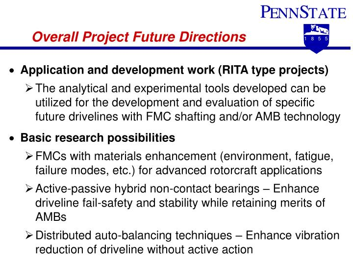 Overall Project Future Directions
