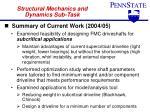 structural mechanics and dynamics sub task1