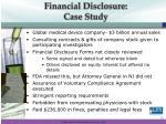 financial disclosure case study