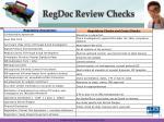 regdoc review checks