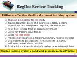 regdoc review tracking