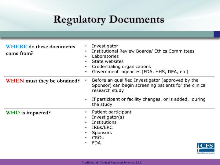 Regulatory Documents