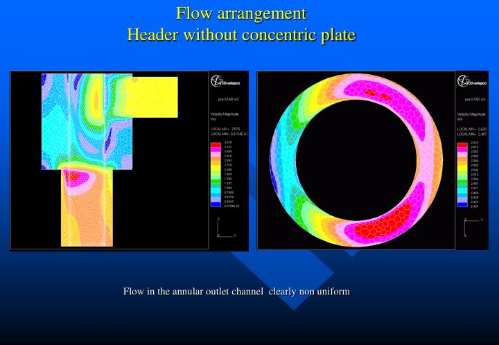 Flow arrangement