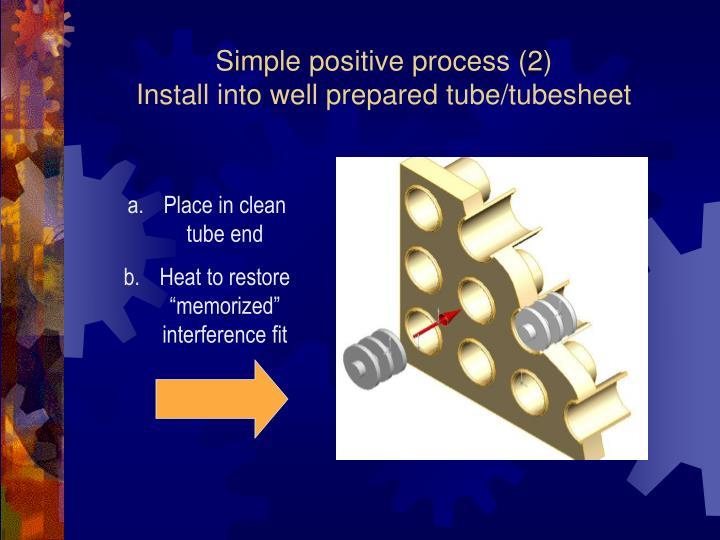 Simple positive process (2)
