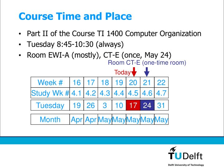 Course time and place