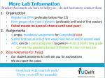 more lab information