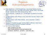 pegasus acknowledgements