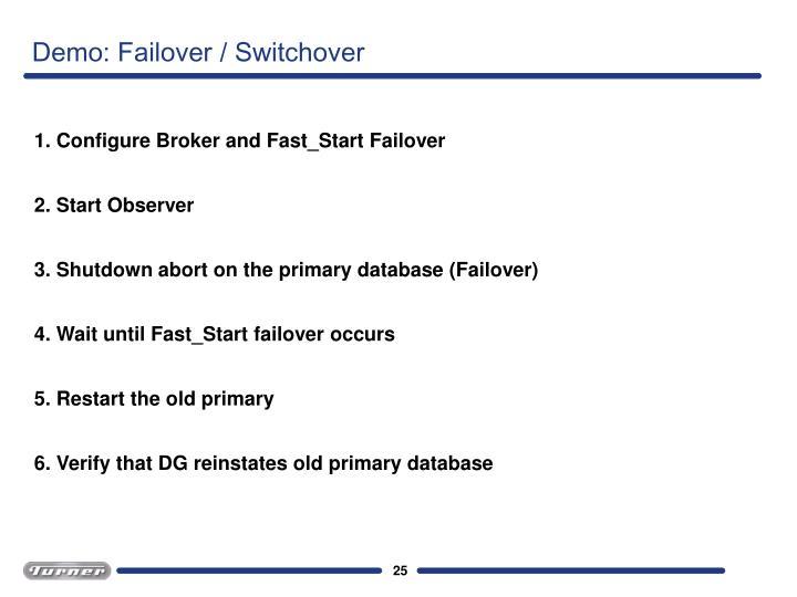 Demo: Failover / Switchover