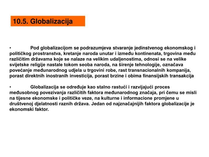 10.5. Globalizacija