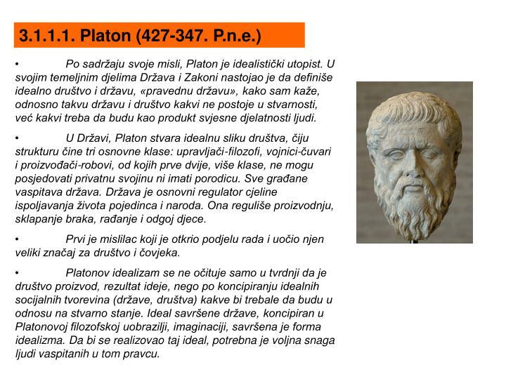 3.1.1.1. Platon (427-347. P.n