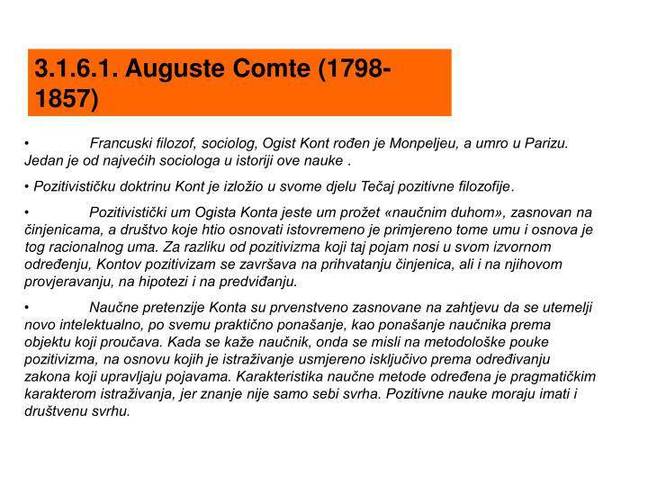 3.1.6.1. Auguste Comte (1798-1857)