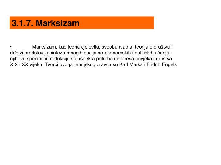 3.1.7. Marksizam