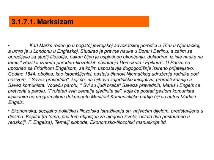 3.1.7.1. Marksizam