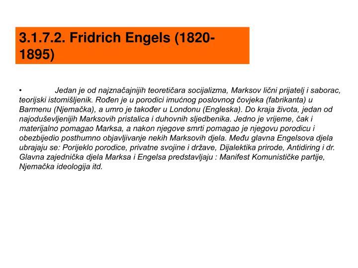 3.1.7.2. Fridrich Engels (1820-1895)