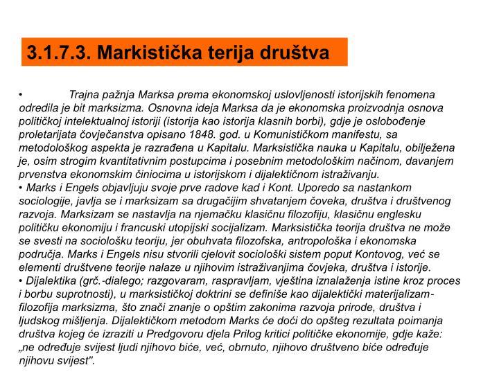 3.1.7.3. Markistička terija društva