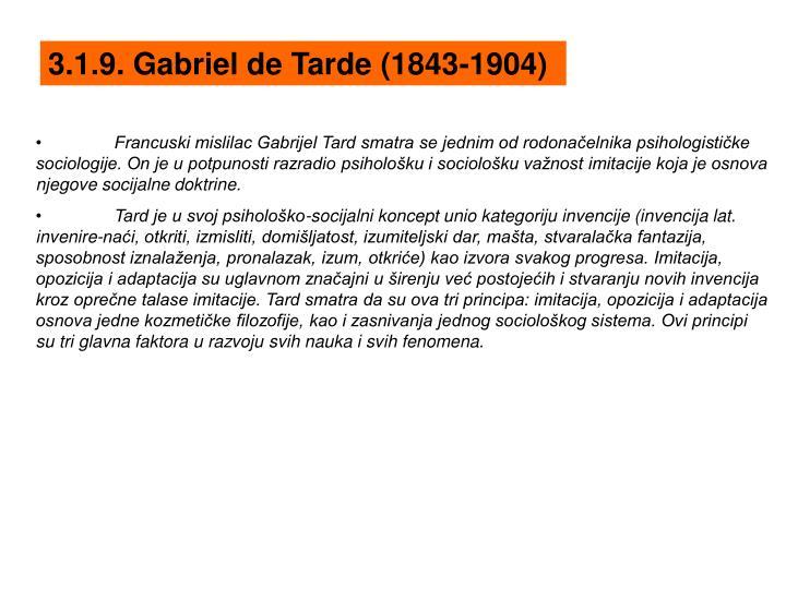 3.1.9. Gabriel de Tarde (1843-1904)