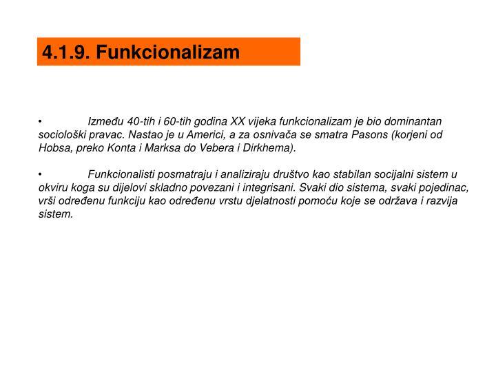 4.1.9. Funkcionalizam