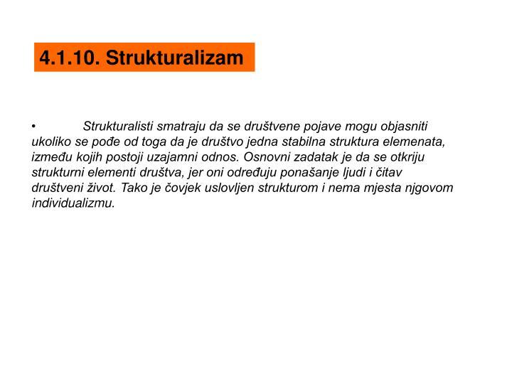 4.1.10. Strukturalizam
