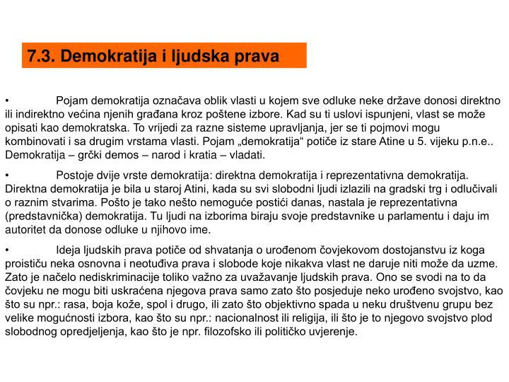 7.3. Demokratija i ljudska prava