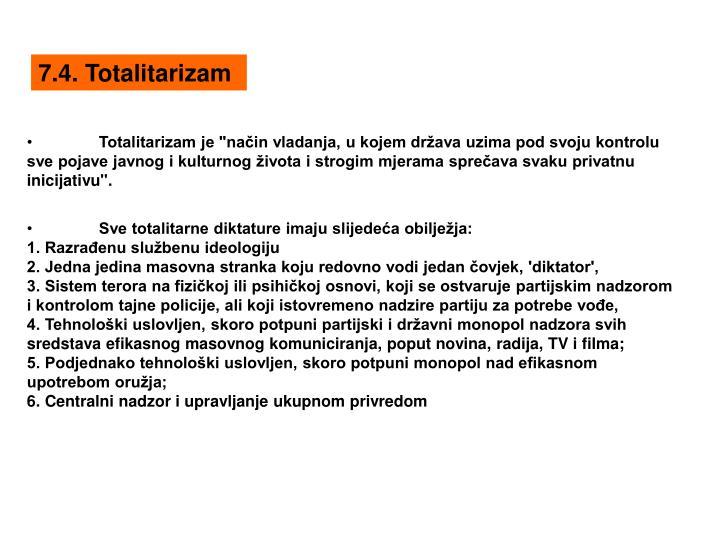 7.4. Totalitarizam